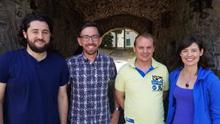 Mick D'Arcy, Leonard Kelly, Mark Ennis and Aideen Ní Riada who are launching a new music group/community choir for those affected by suicide.