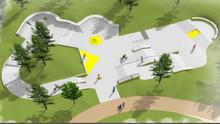An artist's impression of what the skate park at Min Ryan Park will look like