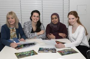 At a Refugee Committee meeting in Wexford County Council HQ last week: Noirin Cummins, Mercedes Hoad Moussa, Sulafa Ali and Hannah Culkin