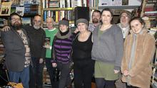 At the Irvine Welsh night at Red Books on Friday night were Zeff Ryder, Daithí Kavanagh, Kevin Egan who gave a talk on Irvine Welsh, Suzie Marsden, Evelyn Lappin, Wally O'Neill, Cat Black, Tom Logan and Álanna Hammell