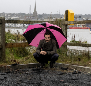 Tomaso Santinon at the spot in Ferrybank where his car was burnt out