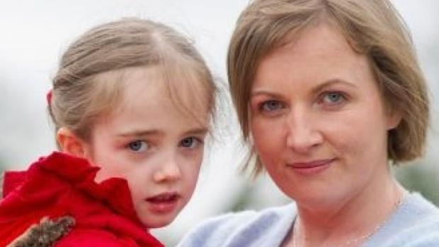 Vera Twomey with her daughter Ava.