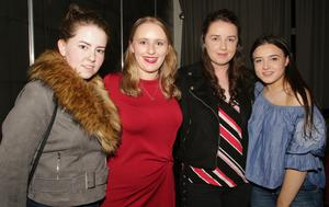 Pam McCormack, Adi Roche O'Leary (who sang Proud Mary in the competition), Pam Fitzharris and Jessie Egan supporting Bannow-Ballymitty