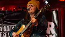 Rachel Grace performing at Galway's Róisín Dubh on Saturday