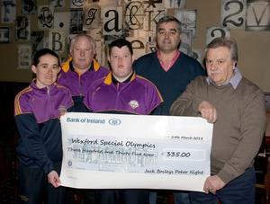 Jenna Carty, John O'Connor, Dean O'Connor, Daithi Kelly and Marcello Marini, organiser of the tournament. (Missing from photo - David Byrne)