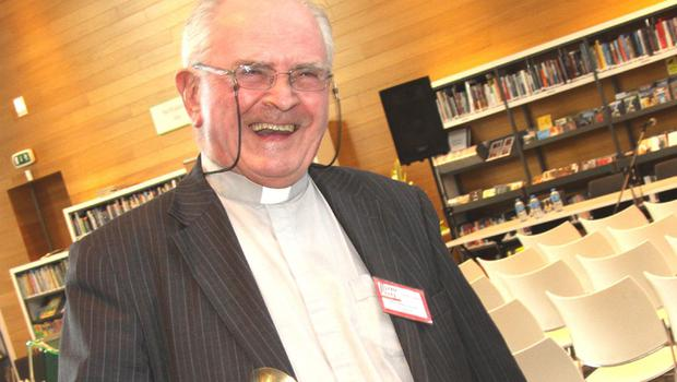 Byrne Perry summer school opening at, Gorey library; chairman Fr. Walter Forde hitting a high note ..