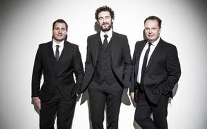 The Celtic Tenors who perform open air at St Peter's College later this month