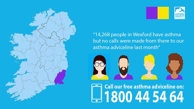 The Asthma Adviceline is available at 1800 44 54 64