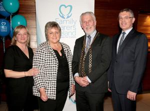 At the carers' respite weekend in Clayton White's: Catherine Cox, Head of Communications and Carer Engagement, Family Carers Ireland; Marian Mahon, Carers Wexford; Mayor of Wexford, Jim Moore; and John Dunne , CEO, Family Carers Ireland
