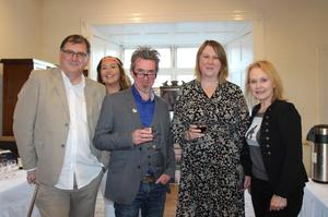 At the launch of the Wexford Literary Festival in Enniscorthy Castle: Declan Dempsey, Roisin Williams, Peter Murphy, Elizabeth Whyte and Helena Mulkearns