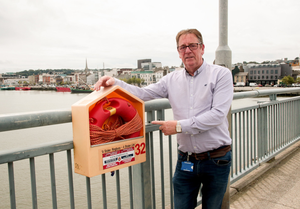 Tony Murphy pictured on Wexford Bridge where he participated in the dramatic rescue on Saturday morning