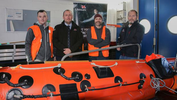 At the Wexford RNLI Open Day were, from left, James Flood, Damien Foley, David Marskell and Frank O'Brien