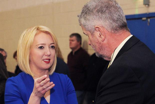 Election count, candidate, Aoife Byrne and Jimmy Gahan.