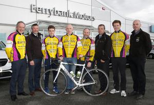 At the launch of the Wexford Wheelers Frank O'Rourke Memorial Race at Ferrybank Motors were David Maguire, Leslie Walker, Hugh Maguire, Keith Cullen, Oliver Gargan, Luke Maguire and Albert Walsh