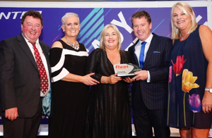 Sean Murtagh, Orla Sweeney (Fleet Transport), Verona Murphy and Adrian Madden and Nicola Sandford of Close Brothers Commercial Finance (sponsors)