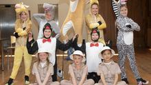 Discovering Drama students getting ready for their production of Madagascar in the National Opera House on Sunday