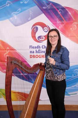 Michelle Ní Ghrada,Wexford, who took third place in Harp Slow Airs (over 18).