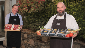 Butcher Andrew Boyle and Chef Val Murphy pictured at the Ashdown Park Hotel