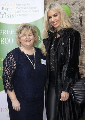Mairead Sinnott, chairperson, Wexford Rape & Sexual Abuse Support Service, and former Miss World Rosanna Davidson, guest speaker at Saturday's launch.