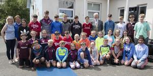 The Active Flag committee, past and present, with Jake O'Connor at the raising of the Active Flag in Piercestown, with special guest, Mayor of Wexford Jim Moore