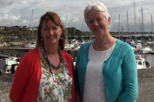Festival chairperson Lucy Moore with committee member Mary Byrne