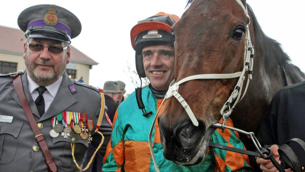 David O'Grady of the Order of Malta with Ruby Walsh.