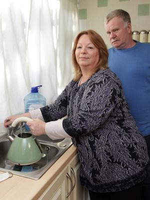 Bishopswater lead pipe water problem. Patricia and Philip Dempsey