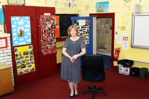 FINAL FAREWELL: Principal Aisling Cooney Whitty at Clohamon NS where local children have been educated since 1943.