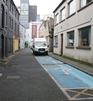 The disabled parking bays on Charlotte Street