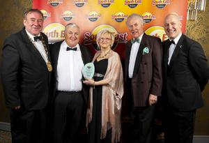Ger and Jackie Hore, winners of the South East Radio customer service award for Photographer of The Year for the second year in a row, with Keith Doyle (left), Cathaoirleach, Wexford County Council; James C Wyse, MD, 60 Plus Finance; and Tom Banville, CEO Local Enterprise Office