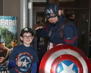 Billy Stafford from Glenbrien with Captain America