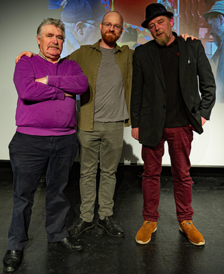 Pictured, left to right, are: Johnny Murphy (New Ross), Terence White (filmmaker from Gorey) and Pippy Firman (Wexford). Photo: Michael Duggan