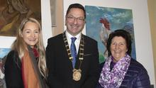 At the opening: Grace O'Sullivan, Council Cathaoirleach Michael Sheehan and Nicola Howlin