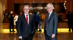 Pat McCann, outgoing CEO, Dalata Hotel Group, and Dermot Crowley, deputy CEO