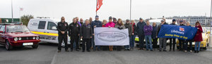 At the launch of the 2019 Wexford Sports and Classic Car Show at Ferrybank: club members and representatives of the RNLI, Wexford Marinewatch and Wexford Women's Refuge