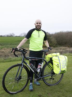 Michael Kehoe, Bridgetown, who is cycling round the Irish coast for charity.
