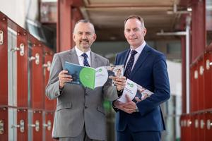 Chairperson of Skillnet Brendan McGinty and Chief Executive Paul Healy launch their annual report