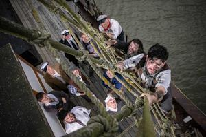Wexford actors getting to grips with their new roles on the Dunbrody Famine Ship ahead of their trip to California