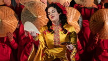 Soprano Celine Byrne in a scene from Madame Butterfly, one of the operas she will be performing arias from during the pop-up series