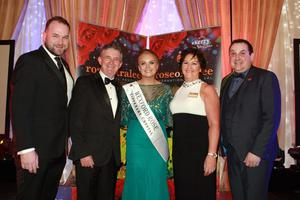 Wexford co-ordinator Peter Cooney, executive chairman, International Rose of Tralee, Anthony O'Gara; Wexford's Rose 2019, Emma Byrne from Clonroche; Oonagh O'Gara and Ollie Turner, who was MC for the night