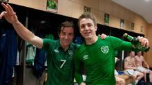 Stephen Hunt and Kevin Doyle in the glory days with Ireland