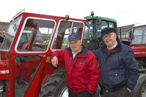 Matt White and Martin Day from Bargy Vintage Club at the Adamstown Vintage Run