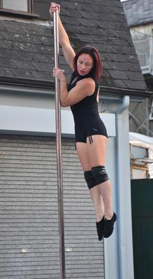 Lisa Byrne of the Lioness Adult Hip Hop and Aerial Group in Selskar Square