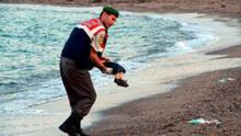 Aylan Kurdi, the 3-year-old Syrian child who was recovered from the sea in Kos.