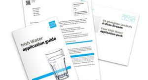 The Irish Water registration packs