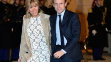 New French Preisdent Emmanuel Macron with his wife Brigitte Trogneux.