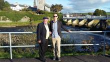 Yours truly and my father at the Listowel Races of 2016.