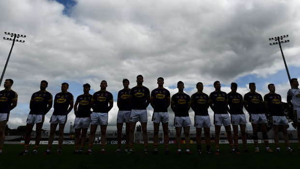The Wexford team ahead of the start of their Leinster championship clash with Carlow in Netwatch Cullen Park
