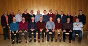 At the 50th reunion of the Faythe Harriers 1967 U21 county champions in Wexford Golf Club recently were, back: Jim Foley, Michael Whitney, John Denton, Con Dowdall, Eddie Foley, Pat Kenny Walsh, Ned Buggy, Brendan Murphy, George O'Connor, Mick McMahon, Jimmy Daly, Jim Rossiter and Sean Saunders. Front; Dick Murphy, Martin Buggy, Kevin Murphy, John Meyler (captain), Nicky Keeling (Club Chairman), Eddie Walsh, Denny Grannell and Mick Browne