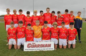 The Davidstown-Courtnacuddy panel prior to their final loss in St. Patrick's Park, Enniscorthy